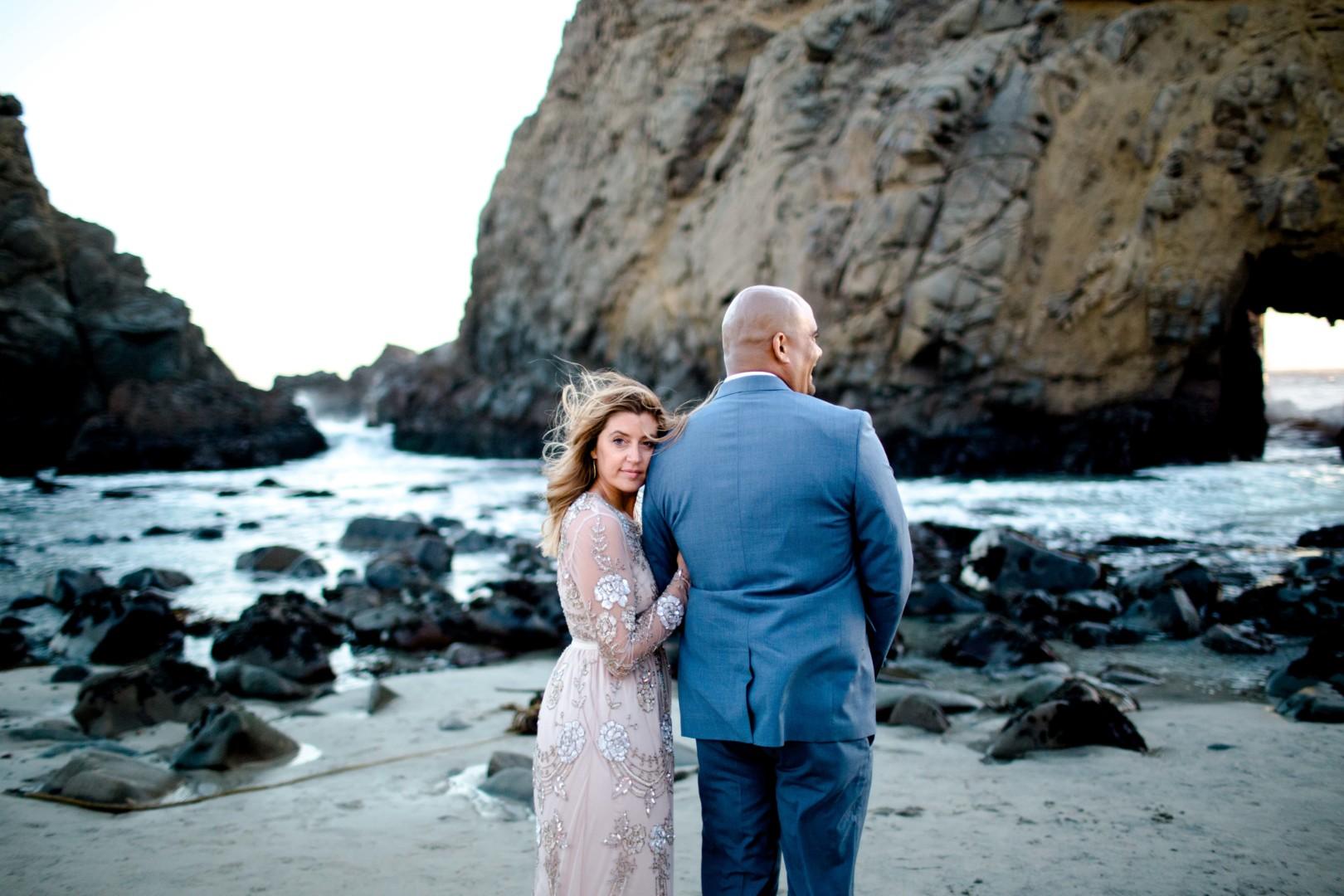 Tanja + Gil | Rocky Point Pfeiffer Beach Big Sur Elopement