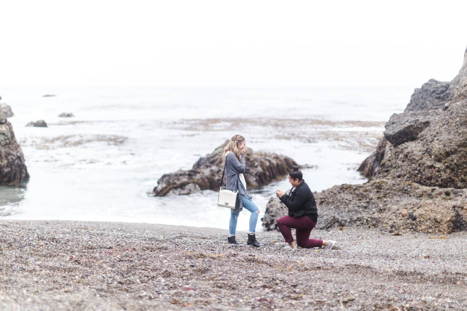 Alyssa + Malina | Point Lobos Big Sur Proposal