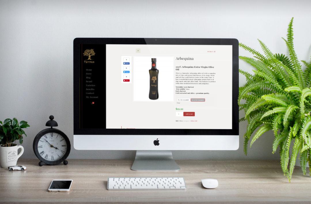 Hermus Olive Oil: Website Development