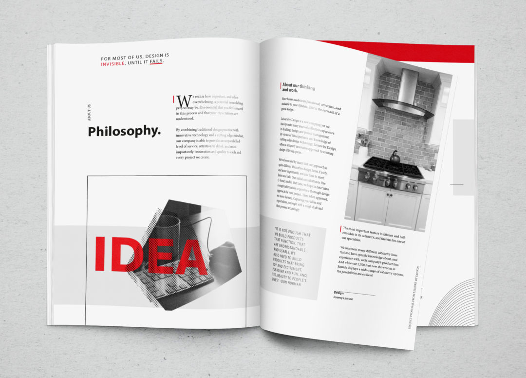 Leisure By Design: Brand Identity, Web Development