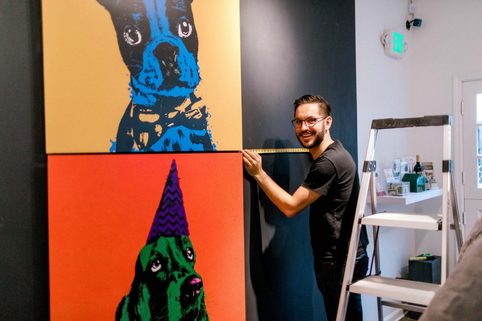 Barkis-Co-Design-Artist-Carmel-Dog-Installation-Custom-Abstract-Expressionism